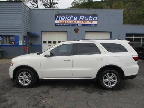 2012 Dodge Durango for sale at Reid's Auto Sales & Service in Emporium PA