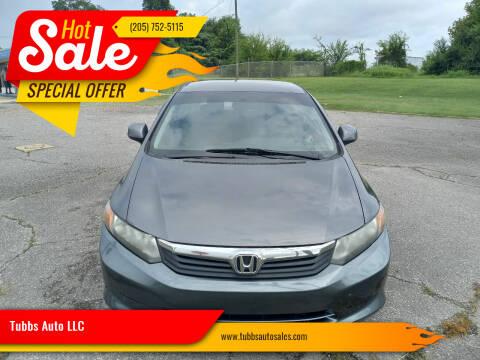 2012 Honda Civic for sale at Tubbs Auto LLC in Tuscaloosa AL