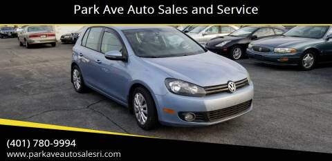 2011 Volkswagen Golf for sale at Park Ave Auto Sales and Service in Cranston RI