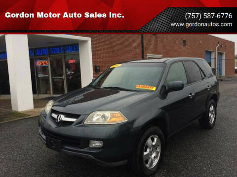 2004 Acura MDX for sale at Gordon Motor Auto Sales Inc. in Norfolk VA
