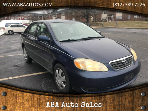 2006 Toyota Corolla for sale at ABA Auto Sales in Bloomington IN