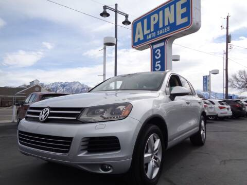 2012 Volkswagen Touareg for sale at Alpine Auto Sales in Salt Lake City UT