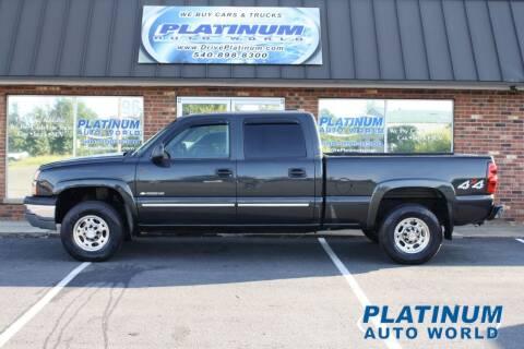 2005 Chevrolet Silverado 1500HD for sale at Platinum Auto World in Fredericksburg VA