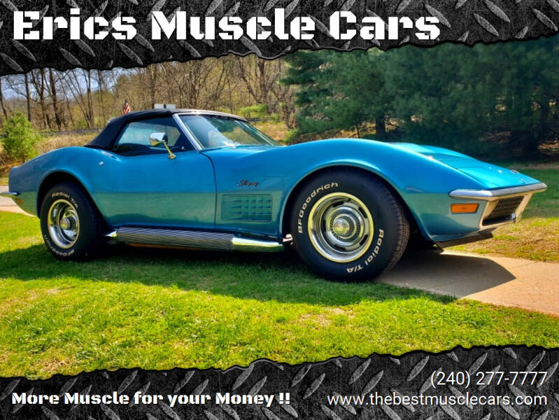 1970 Chevrolet Corvette for sale at Erics Muscle Cars in Clarksburg MD