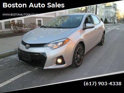 2016 Toyota Corolla for sale at Boston Auto Sales in Brighton MA