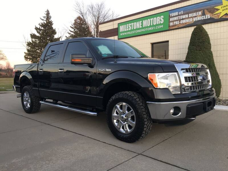 2014 Ford F-150 for sale at MILESTONE MOTORS in Chesterfield MI