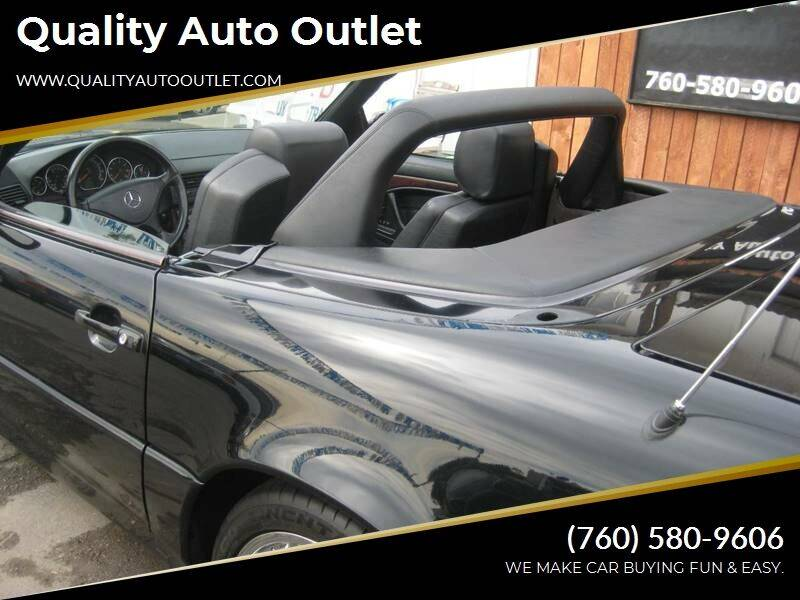 2000 Mercedes-Benz SL-Class for sale at Quality Auto Outlet in Vista CA