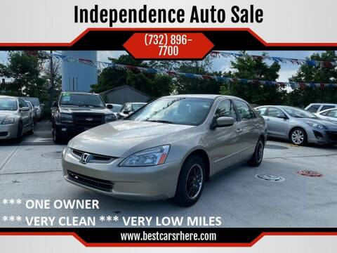 2004 Honda Accord for sale at Independence Auto Sale in Bordentown NJ