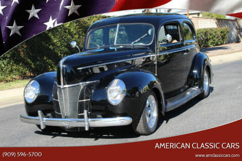 1940 Ford Deluxe for sale at American Classic Cars in La Verne CA
