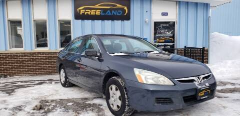 2006 Honda Accord for sale at Freeland LLC in Waukesha WI