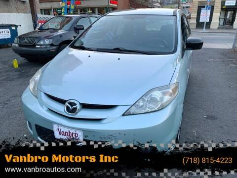 2006 Mazda MAZDA5 for sale at Vanbro Motors Inc in Staten Island NY