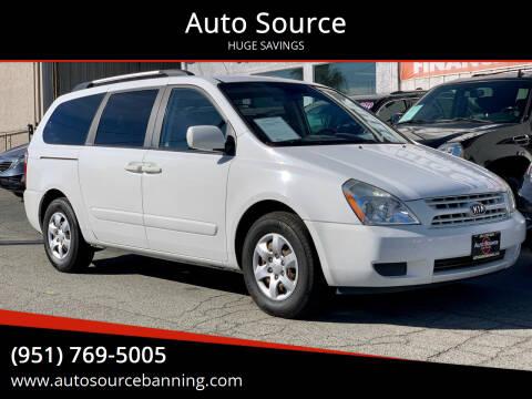 2010 Kia Sedona for sale at Auto Source in Banning CA