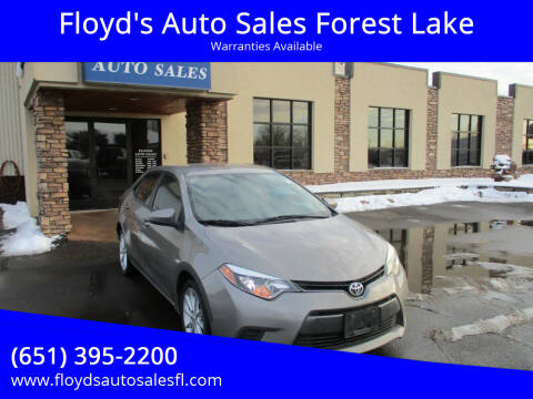 2015 Toyota Corolla for sale at Floyd's Auto Sales Forest Lake in Forest Lake MN