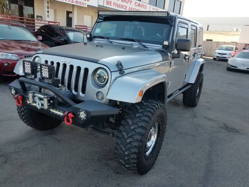 2015 Jeep Wrangler Unlimited for sale at Convoy Motors LLC in National City CA