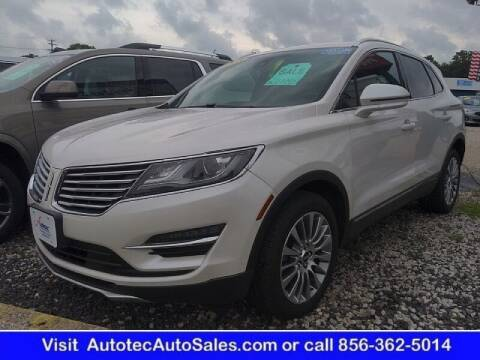 2018 Lincoln MKC for sale at Autotec Auto Sales in Vineland NJ