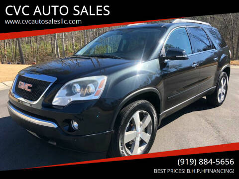 2011 GMC Acadia for sale at CVC AUTO SALES in Durham NC