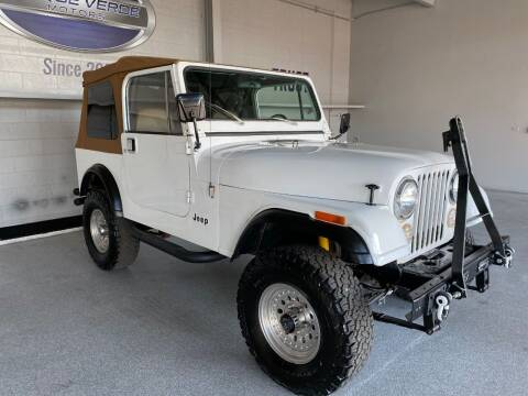 1984 Jeep CJ-7 for sale at TANQUE VERDE MOTORS in Tucson AZ