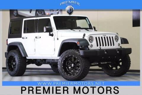 2015 Jeep Wrangler Unlimited for sale at Premier Motors in Hayward CA