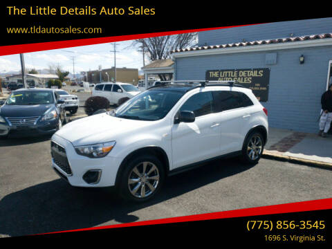 2013 Mitsubishi Outlander Sport for sale at The Little Details Auto Sales in Reno NV