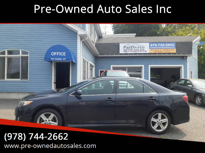 2012 Toyota Camry for sale at Pre-Owned Auto Sales Inc in Salem MA