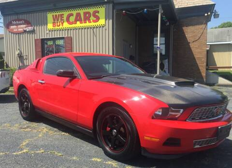2012 Ford Mustang for sale at Mehan's Auto Center in Mechanicville NY