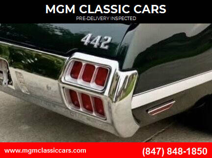 1972 Oldsmobile 442 for sale at MGM CLASSIC CARS-New Arrivals in Addison IL