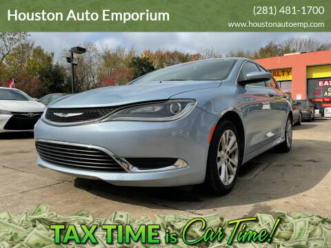 2015 Chrysler 200 for sale at Houston Auto Emporium in Houston TX