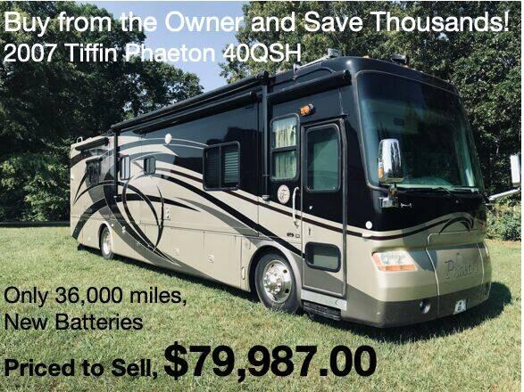 2007 Tiffin Phaeton 40QSH for sale at RV Wheelator in Tucson AZ