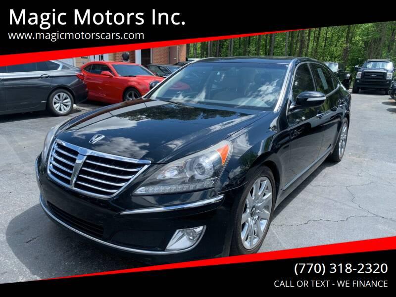 2012 Hyundai Equus for sale at Magic Motors Inc. in Snellville GA