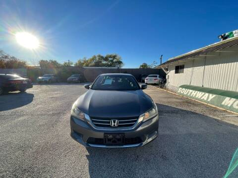 2013 Honda Accord for sale at SOUTHWAY MOTORS in Houston TX