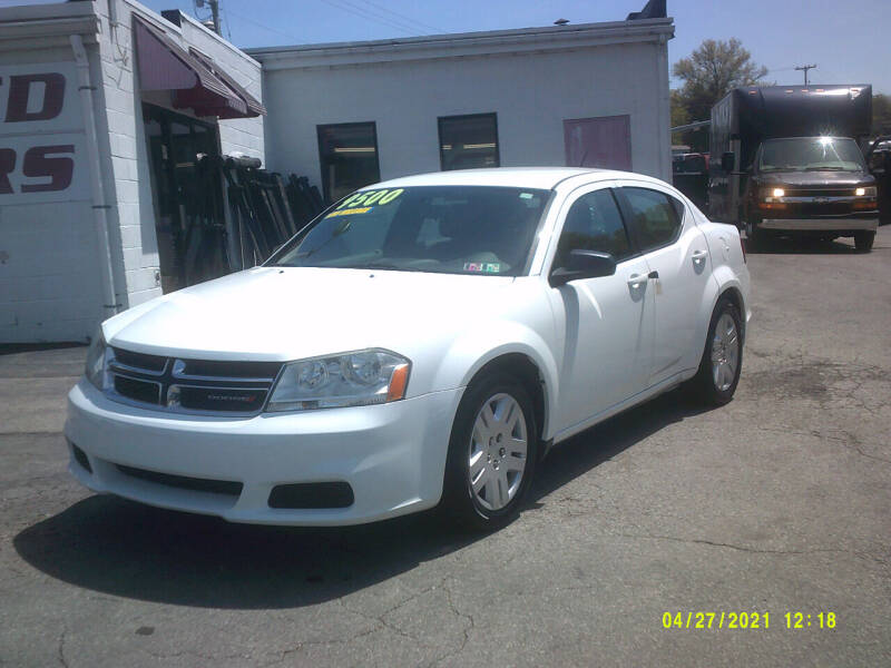 2014 Dodge Avenger for sale at M & M Inc. of York in York PA