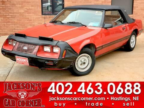 1984 Ford Mustang for sale at Jacksons Car Corner Inc in Hastings NE