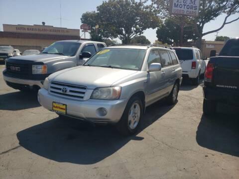 2004 Toyota Highlander for sale at L & M MOTORS in Santa Maria CA