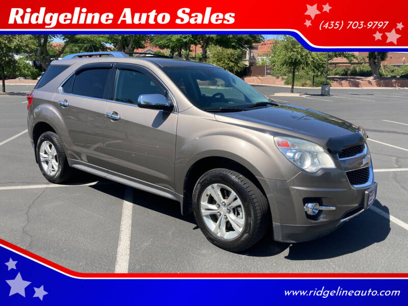 2012 Chevrolet Equinox for sale at Ridgeline Auto Sales in Saint George UT