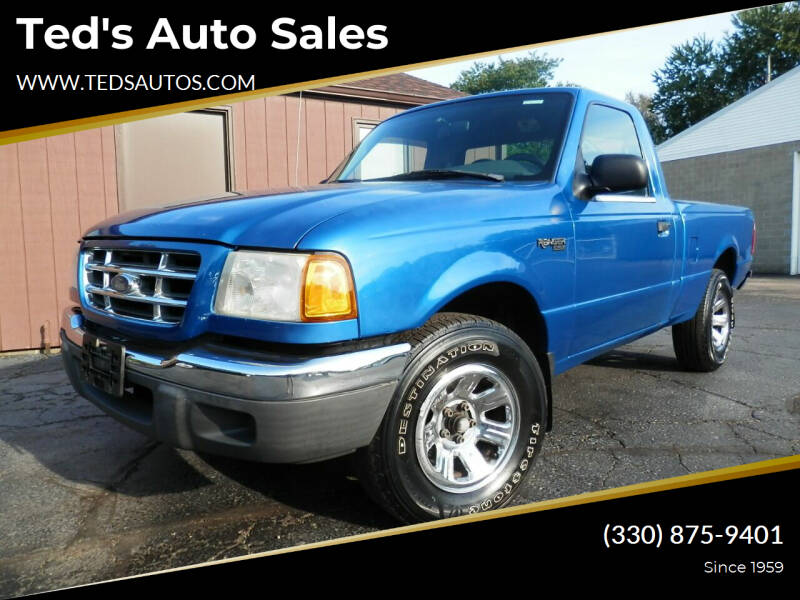 2001 Ford Ranger for sale at Ted's Auto Sales in Louisville OH