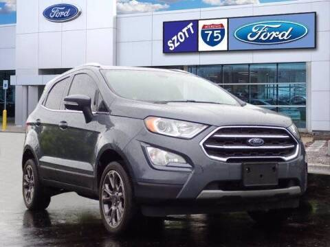 2018 Ford EcoSport for sale at Szott Ford in Holly MI