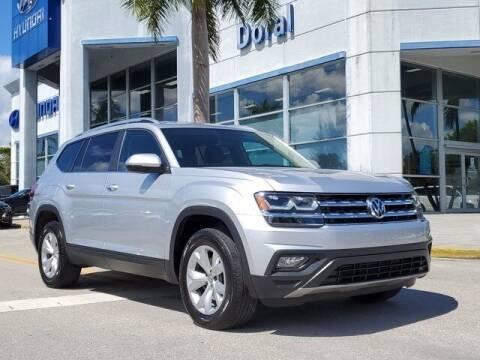 2019 Volkswagen Atlas for sale at DORAL HYUNDAI in Doral FL