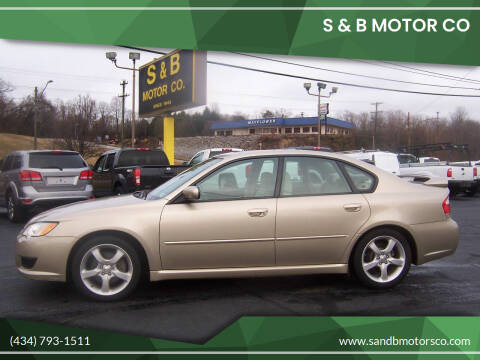 2008 Subaru Legacy for sale at S & B MOTOR CO in Danville VA