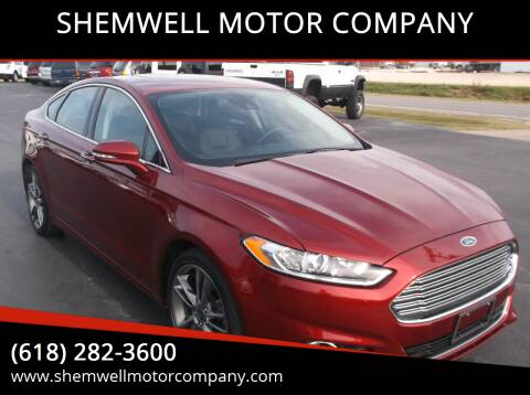 2014 Ford Fusion for sale at SHEMWELL MOTOR COMPANY in Red Bud IL