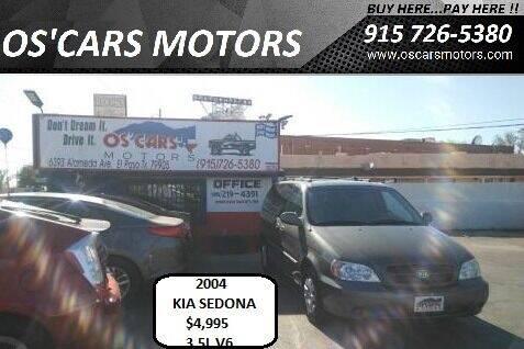 2004 Kia Sedona for sale at Os'Cars Motors in El Paso TX