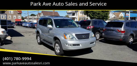 2007 Lexus GX 470 for sale at Park Ave Auto Sales and Service in Cranston RI