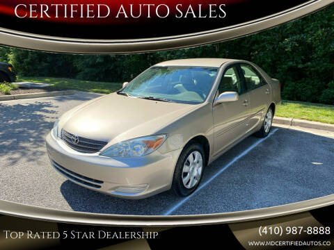 2003 Toyota Camry for sale at CERTIFIED AUTO SALES in Severn MD