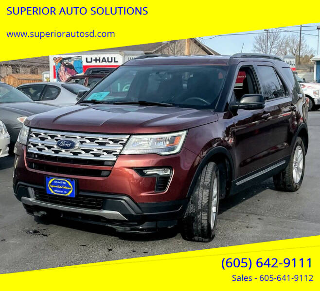 2018 Ford Explorer for sale at SUPERIOR AUTO SOLUTIONS in Spearfish SD