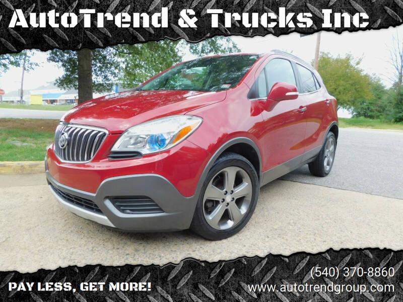 2014 Buick Encore for sale at AutoTrend & Trucks Inc in Fredericksburg VA