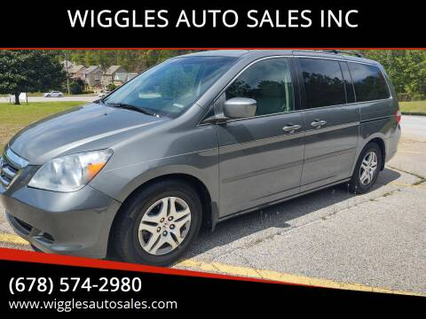 2007 Honda Odyssey for sale at WIGGLES AUTO SALES INC in Mableton GA