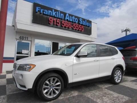 2013 BMW X3 for sale at Franklin Auto Sales in El Paso TX