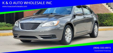 2012 Chrysler 200 for sale at K & O AUTO WHOLESALE INC in Jacksonville FL