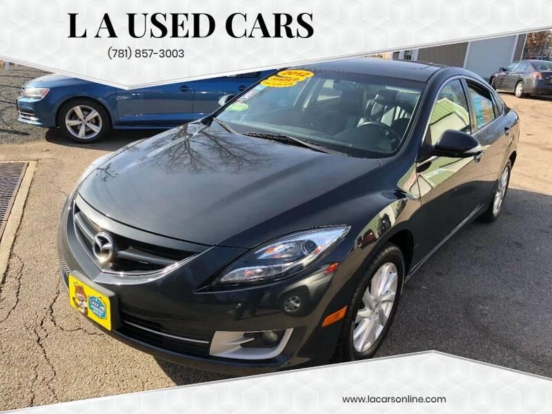 2012 Mazda MAZDA6 for sale at L A Used Cars in Abington MA