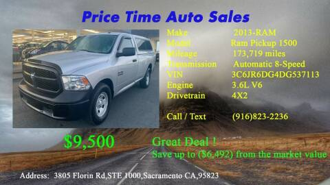 2013 RAM Ram Pickup 1500 for sale at PRICE TIME AUTO SALES in Sacramento CA