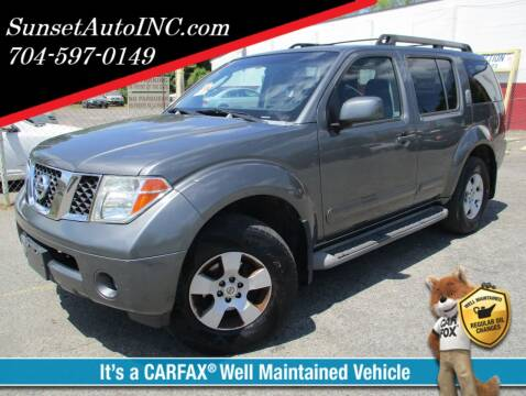 2007 Nissan Pathfinder for sale at Sunset Auto in Charlotte NC